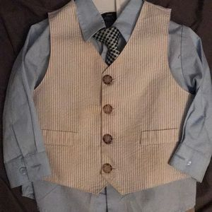 Nautica Boys Button-up, Vest, Tie, Dress Pants 24M